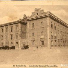 Postales: ZARAGOZA – 34 ACADEMIA GENERAL MILITAR – UN PABELLÓN - 9X14 – ED. ARRIBAS. Lote 151883350