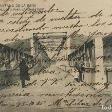 Postales: 1916 PANTANO DE LA PEÑA, HUESCA. VIADUCTO PARA LA CARRETERA. SERIE B-20. Lote 151909454