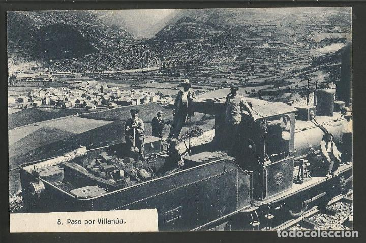 VILLANUA-FERROCARRIL-8-ED·HERAS-POSTAL ANTIGUA-(57.206) (Postales - España - Aragón Antigua (hasta 1939))