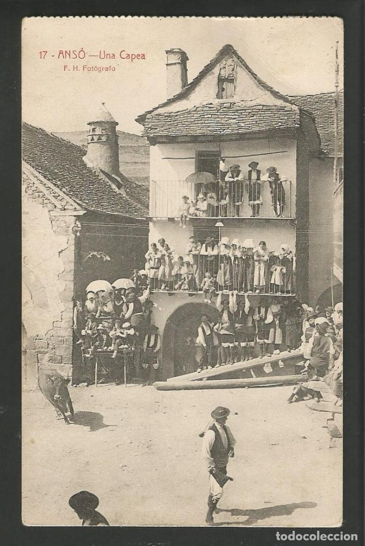 ANSO-UNA CAPEA-17-F.H. FOTOGRAFO-POSTAL ANTIGUA-(57.214) (Postales - España - Aragón Antigua (hasta 1939))
