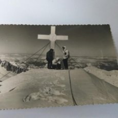 Postales: POSTAL FOTOGRÁFICA ZARAGOZA BENASQUE CRUZ Y CUMBRE DEL ANETO. Lote 152529490