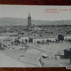 Postales: CALATAYUD (ZARAGOZA) LAS CUATRO PARROQUIAS, FOTO M. RUBIO, FOTOTIPIA THOMAS, SIN CIRCULAR. Lote 153649914