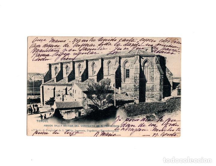 TERUEL.- ABSIDE DE LA IGLESIA DEL CONVENTO DE S FRANCISCO (Postales - España - Aragón Antigua (hasta 1939))