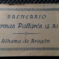 Postales: ALHAMA DE ARAGON .- BALNEARIO TERMAS PALLARES .- 10 POSTALES .- FOTOTIPIA CASTAÑEIRA ,ALVAREZ. Lote 153926917
