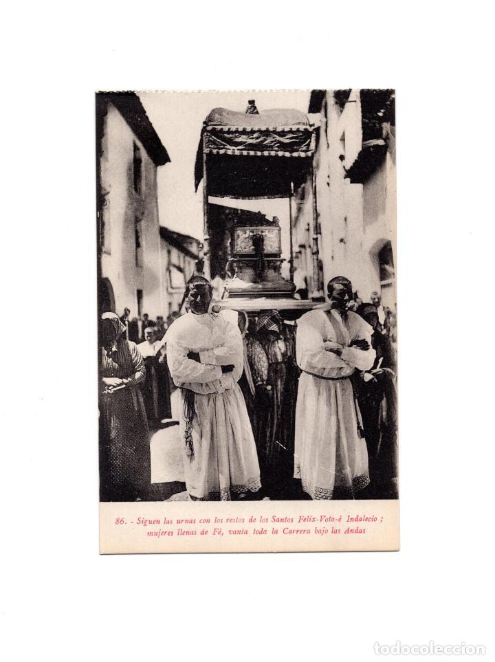 JACA.(HUESCA).- SIGUEN LAS URNAS CON LOS RESTOS DE LOS SANTOS FELIX-VOTO E INDALECIO. SANTA OROSIA (Postales - España - Aragón Antigua (hasta 1939))