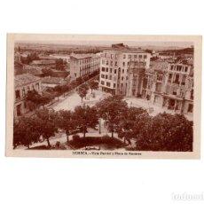 Postales: HUESCA.- VISTA PARCIAL Y PLAZA DE NAVARRA. Lote 154415382
