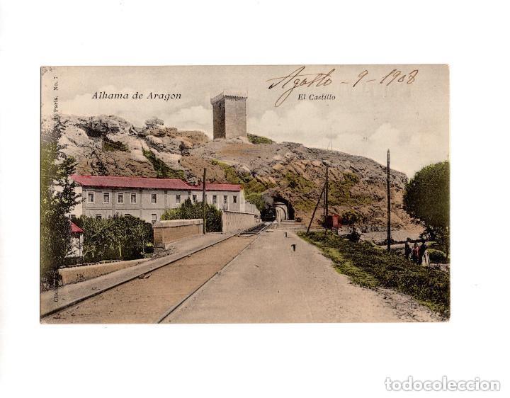 ALHAMA DE ARAGÓN.- EL CASTILLO. V. P PARIS. NUM 7. EDICIÓN FRANCESA (Postales - España - Aragón Antigua (hasta 1939))