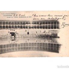 Postales: CALATAYUD.(ZARAGOZA).- PLAZA DE TOROS INUNDACIÓN DE 1902. Lote 154702778