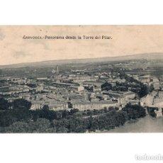 Postales: ZARAGOZA.- PANORAMA DESDE LA TORRE DEL PILAR. Lote 154702894