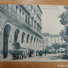 Postales: ZARAGOZA. CALLE DE LA INDEPENDENCIA. CARRO CON CABALLERÍAS. FOTO LAURENT.. Lote 154815582