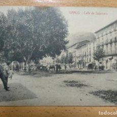 Postales: GRAUS. HUESCA. CALLE SALAMERO. CLICHE ARRIBAS. J. SAMBLANCAT EDITOR. Lote 154817082