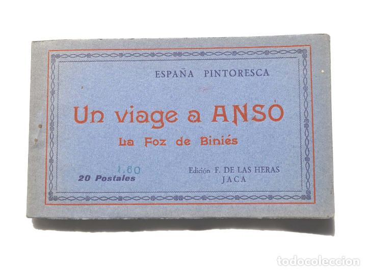UN VIAJE A ANSÓ- LA FOZ DE BINIÉS - ÁLBUM COMPLETO. ED. F. DE LAS HERAS. JACA (Postales - España - Aragón Antigua (hasta 1939))