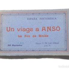 Postales: UN VIAJE A ANSÓ- LA FOZ DE BINIÉS - ÁLBUM COMPLETO. ED. F. DE LAS HERAS. JACA. Lote 155347898