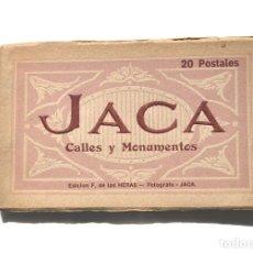 Postales: JACA.- CALLES Y MONUMENTOS - ÁLBUM COMPLETO. ED. F. DE LAS HERAS. . Lote 155348526