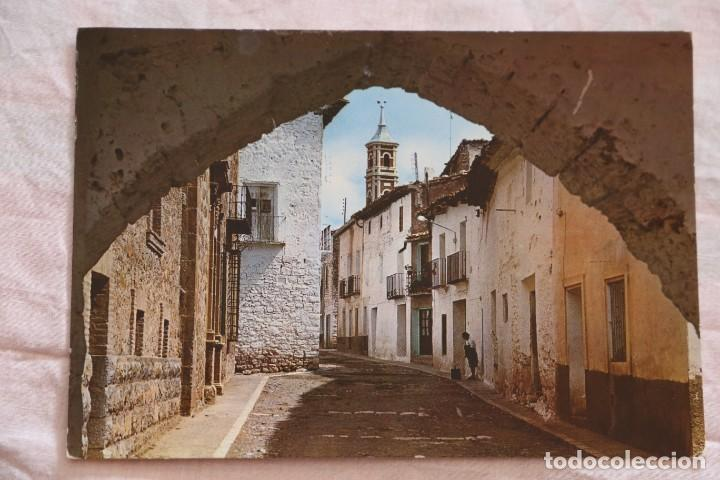 POSTAL SARRION TERUEL Nº 4 CALLE TERUEL Y ARCO DEL PILAR ESCRITA (Postales - España - Aragón Moderna (desde 1.940))