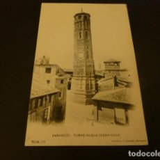 Postales: ZARAGOZA TORRE NUEVA DERRIBADA FOTOTIPIA L. ESCOLA Nº 27 REVERSO SIN DIVIDIR. Lote 155472106