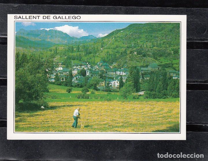 SALLENT DE GÁLLEGO. VISTA PANORÁMICA, AL FONDO FORMIGAL (Postales - España - Aragón Moderna (desde 1.940))