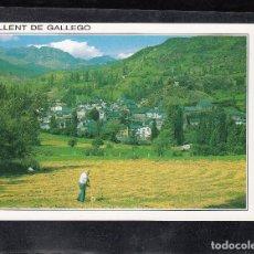 Postales: SALLENT DE GÁLLEGO. VISTA PANORÁMICA, AL FONDO FORMIGAL. Lote 155567198