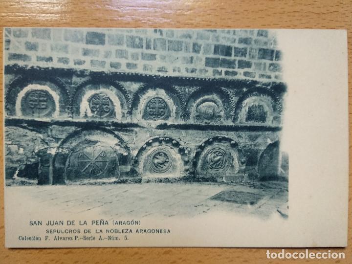 SAN JUAN DE LA PEÑA. HUESCA. SEPULCROS DE LA NOBLEZA ARAGONESA. COL. F. ALVAREZ, 5 (Postales - España - Aragón Antigua (hasta 1939))