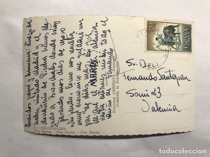 Postales: BRONCHALES (Teruel) Postal No.7 Fon Buena. Edita: ediciones Arribas (h.1960?) - Foto 2 - 155865462