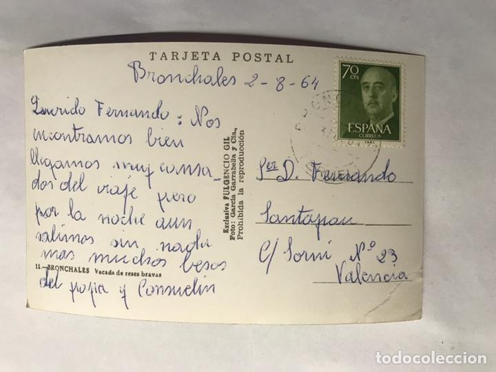 Postales: BRONCHALES (Teruel) Postal No.11, Vacada de reses bravas. Edita: Exclusivas Fulgencio Gil (h.1960?) - Foto 2 - 155866990