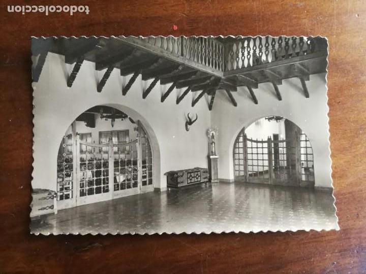 POSTAL DE ORIHUELA DEL TREMEDAL. TERUEL. RESIDENCIA PADRE POLANCO. HALL. (Postales - España - Aragón Moderna (desde 1.940))