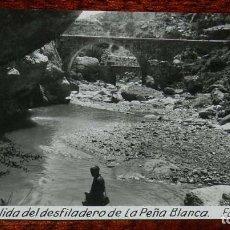 Postales: FOTO POSTAL DE OLBA, TERUEL, SALIDA DEL DESFILADERO DE LA PEÑA BLANCA, FOTO JACINTO V. NO CIRCULADA.. Lote 156451950