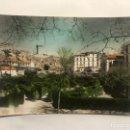 Postales: ALHAMA DE ARAGÓN (ZARAGOZA) POSTAL COLOREADA NO.29, CASTILLO Y PUENTE FERROCARRIL ... Lote 157001026