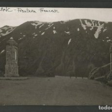 Postales: CANFRANC-FRONTERA FRANCESA-FOTOGRAFICA-POSTAL ANTIGUA-(57.990). Lote 157085862
