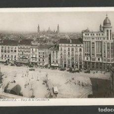 Postales: ZARAGOZA-PLAZA DE LA CONSTITUCION-13-FOTO ROISIN-POSTAL ANTIGUA-(58.011). Lote 157108946