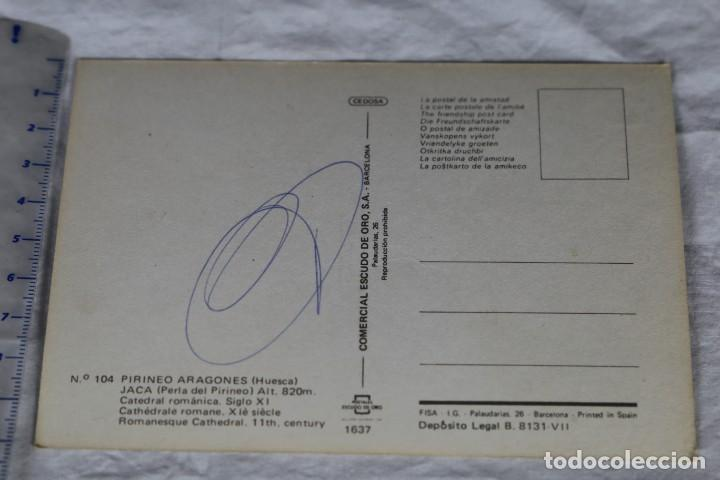 Postales: PIRINEO ARAGONES 1637(104) JACA HUESCA ESCUDO DE ORO-renault citroen vw Beetle - Foto 2 - 157130942