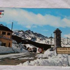 Postales: PIRINEO ARAGONES CANDANCHU PUERTO DEL SOMPORT Nº 18 FOTO PEÑARROYA JACA CAMIONES FRONTERA. Lote 157131594