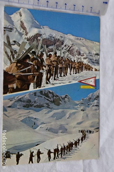 PIRINEO ARAGONES Nº 91 CANDANCHU HUESCA CURSOS DE ESQUI 1650 M TROPA EJERCITO ESPAÑOL FOTO PEÑARROYA (Postales - España - Aragón Moderna (desde 1.940))