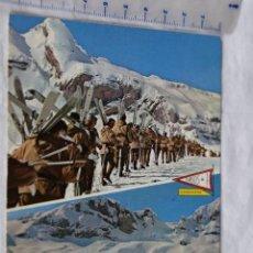 Postales: PIRINEO ARAGONES Nº 91 CANDANCHU HUESCA CURSOS DE ESQUI 1650 M TROPA EJERCITO ESPAÑOL FOTO PEÑARROYA. Lote 157833198