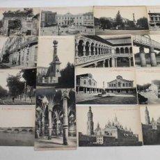 Postales: COLECCIÓN DE 21 POSTALES CON VISTAS DE ZARAGOZA - FOTOTIPIA THOMAS - PRINCIPIOS SIGLO XX. Lote 158829302