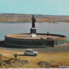 Postales: ALCAÑIZ (TERUEL) MONUMENTO AL TAMBOR Y LA ESTANCA - EDICIONES SICILIA Nº 12 - EDITADA EN 1968 - S/C. Lote 159087810