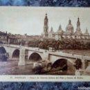 Postales: POSTAL DE ZARAGOZA. TEMPLO DE NUESTRA SEÑORA DEL PILAR Y PUENTE DE PIEDRA.. Lote 159325586