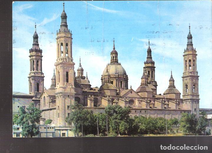 BASÍLICA DE NUESTRA SEÑORA DE EL PILAR. ZARAGOZA.1972. (Postales - España - Aragón Moderna (desde 1.940))