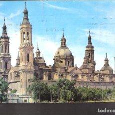 Postales: BASÍLICA DE NUESTRA SEÑORA DE EL PILAR. ZARAGOZA.1972.. Lote 160009098