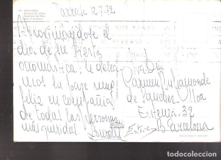 Postales: Basílica de Nuestra Señora de El Pilar. Zaragoza.1972. - Foto 2 - 160009098