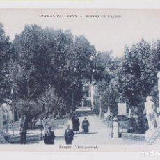 Postales: POSTAL. TERMAS PALLARÉS. ALHAMA DE ARAGÓN. POARQUE. VISTA PARCIAL. ZARAGOZA.. Lote 160414462