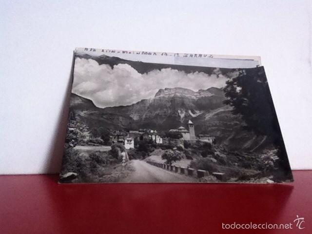 TORLA ( EL PUEBLO Y AL FONDO MONDARRUEGO) POSTAL NUEVA AÑOS 50 (Postales - España - Aragón Moderna (desde 1.940))