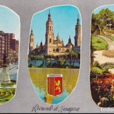 Postales: ZARAGOZA, RECUERDO DE ZARAGOZA - DANIEL ARBONES VILLACAMPA ED. DARVI Nº 13 - ESCRITA. Lote 160875426