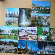 Postales: LOTE 10 POSTALES DE ZARAGOZA. Lote 160931118