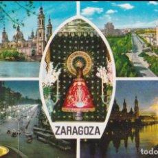 Postales: ZARAGOZA, VARIAS VISTAS - RAKER Nº 18 - ESCRITA 1962. Lote 160984802