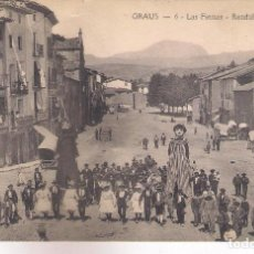 Postales: POSTAL DE GRAUS - LAS FIESTAS -RONDALLA .. Lote 161618114