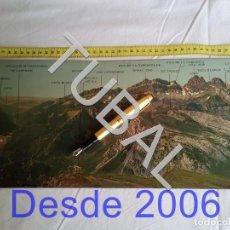 Postales: TUBAL POSTAL GIGANTE PIRINEO ARAGONES 94 CM CANFRANC CANDANCHU. Lote 162413434