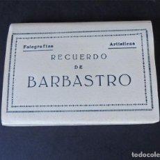 Postales: BARBASTRO ( HUESCA ) MINI BLOCK / 10 FOTOGRAFIAS AÑOS 50 / BLANCO Y NEGRO / SIN USAR. Lote 172751185