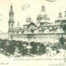 Postales: ZARAGOZA PLAZA Y TEMPLO DEL PILAR. CIRCULADA EN 1904. HAUSER Y MENET.. Lote 163088298