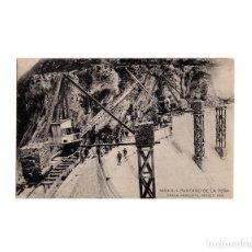Postales: HUESCA.- PANTANO DE LA PEÑA. PRESA PRINCIPAL, MARZO 1913.. Lote 163128094